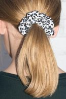 Blue Cheetah Print Scrunchie