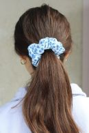 Blue Cheetah Scrunchie
