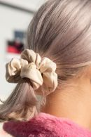 Tan Floral Scrunchie