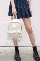 White Floral Mini Backpack