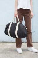 Black Cotton Duffle Bag