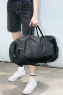 Black Canvas Duffle Bag
