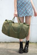 Green Canvas Duffle Bag