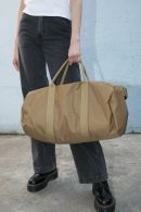 Khaki Canvas Duffle Bag