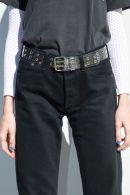 Clear and Silver Grommet Belt