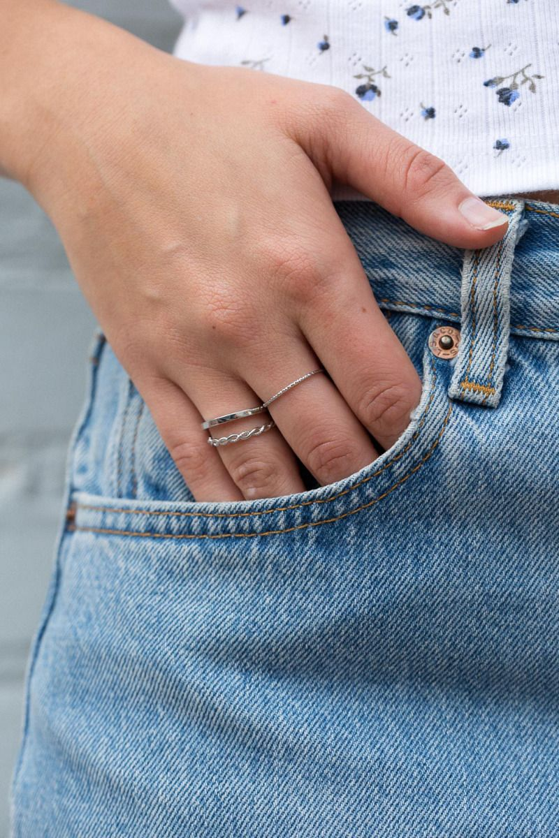 Silver Stack Rings