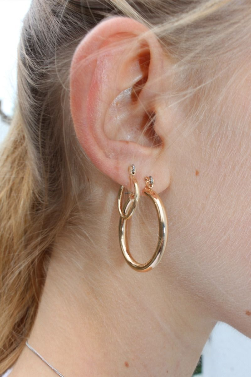 Gold plating Taina 2 sizes Earring