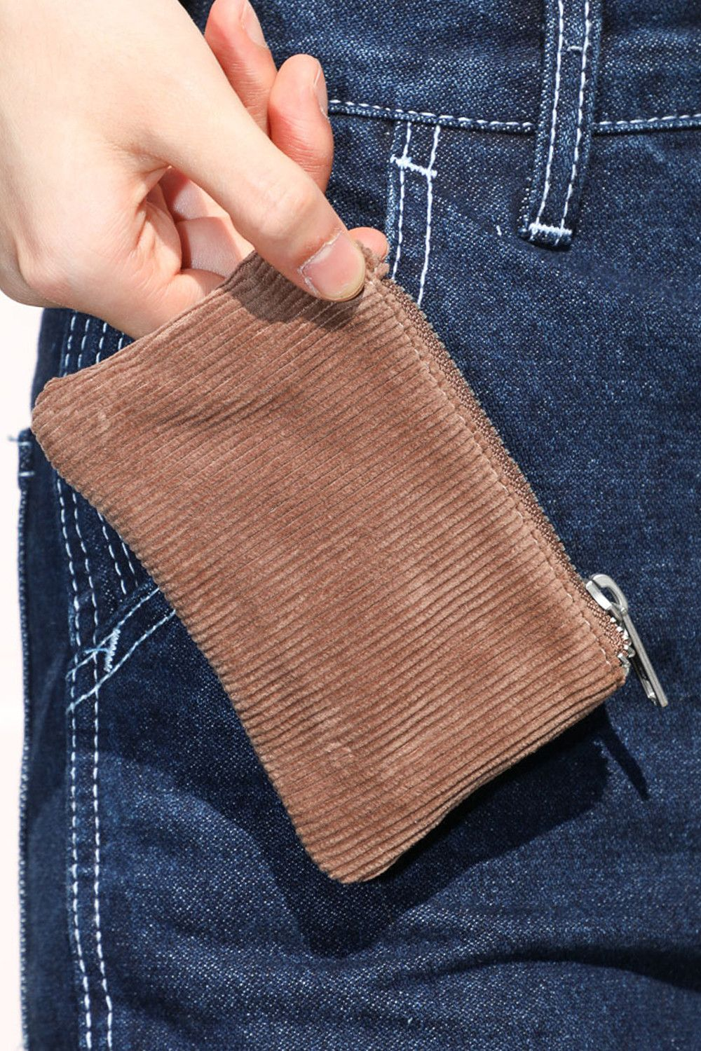 Brown Cord Coin Purse