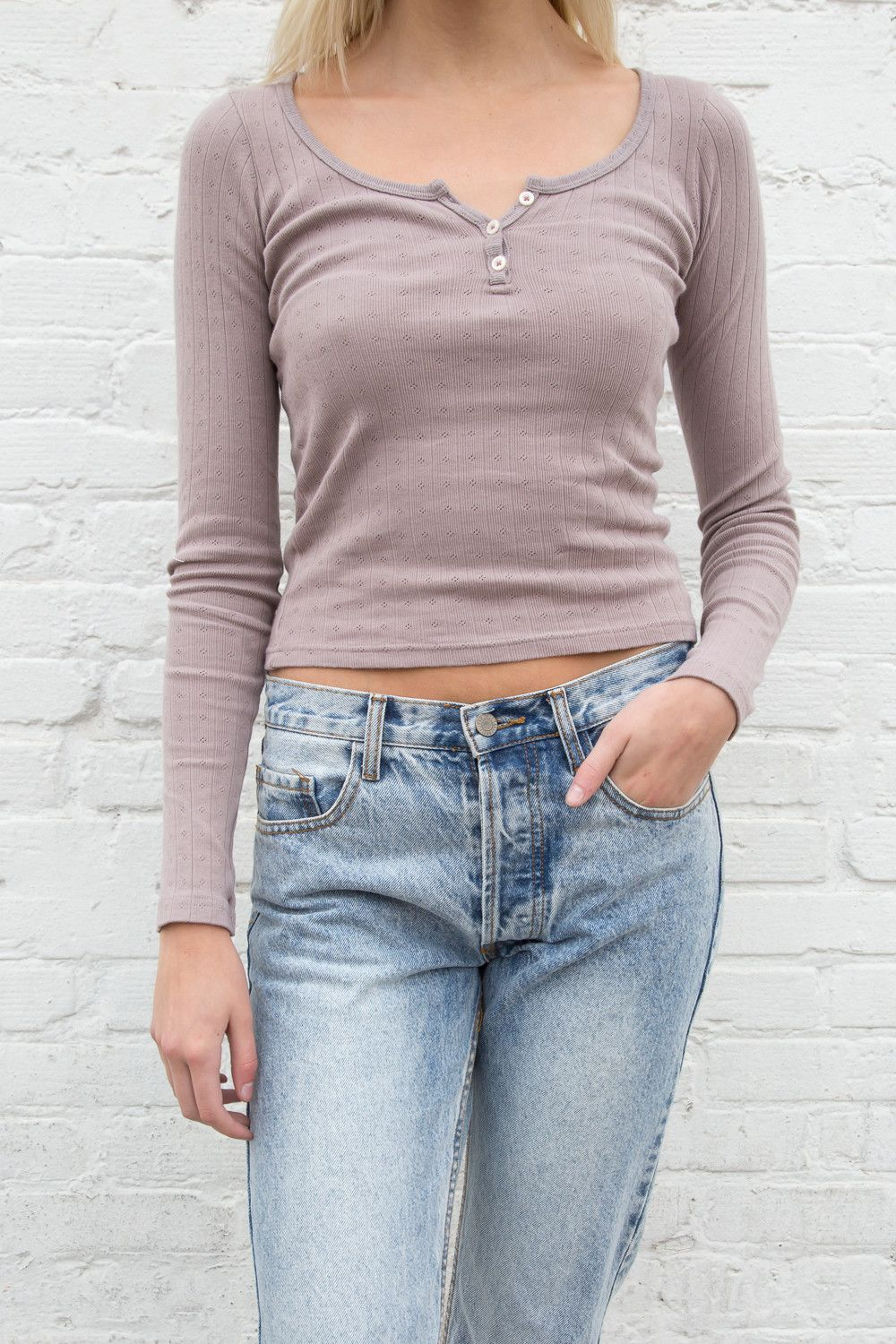 Zelly Three Button Top